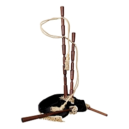 Roosebeck 35 Inch Medieval Bagpipe Set No Mounts Black Cover