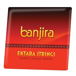 banjira Ektara 2 String Set Loop Ends BJSEKTR
