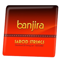 banjira Sarod 25 String Set Loop End BJSSARD