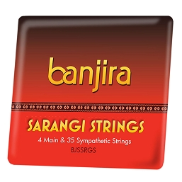 banjira Sarangi 39 String Set Straight + Loop End