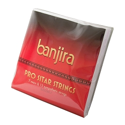 banjira Pro Sitar 7 13 Sympathetic Strings Set Light