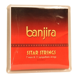 banjira Sitar 7 11 Sympathetic Strings Set Loop End