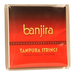 banjira Tanpura Flat Back Style 4 String Set Loop End