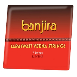 banjira Saraswati Veena Main 7 String Set Loop End