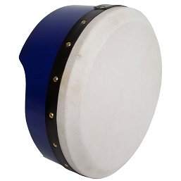 Roosebeck Bodhrán Tunable Plywood 13 x 5 Inch Blue + Tipper