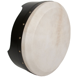 Roosebeck Bodhrán Tunable Plywood 14 x 5 Inch Black + Tipper