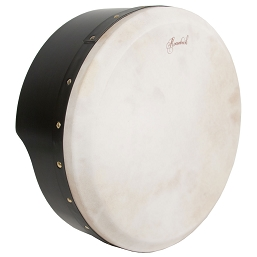 Roosebeck 15 x 5'' Bodhrán NEW Tunable Plywood Black + Tipper Cipin