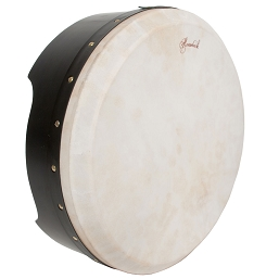 Roosebeck 16 x 5'' Bodhrán NEW Tunable Plywood Black + Tipper Cipin
