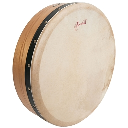 Roosebeck 14 x 3.5 Inch Bodhrán Single-Bar Pretuned Mulberry + Tipper Cipin