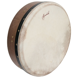 Roosebeck 14 Inch Bodhrán Cross Bar Bolt Tune Walnut + Tipper Cipin + Wrench
