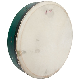 Roosebeck 16 x 3.5 Inch Bodhrán T Bar Bolt Tune Green + Tipper Cipin + Wrench