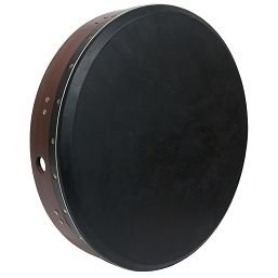 Roosebeck Bodhrán Tunable Sheesham Cross-Bar Black Skin Head + Tipper 18 x 3.5