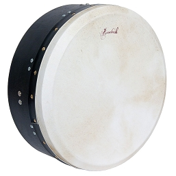 Roosebeck 14 Inch Bodhrán T-Bar Tunable Ply Black + Tipper Cipin + Wrench