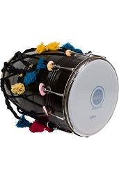 banjira 25 x 14 Inch Dhol Synthetic + Goatskin Heads + Case