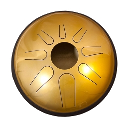 Idiopan Domina Steel Tongue Drum 12 Inch Tunable Buddha Brass + Mallets