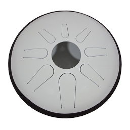 Idiopan Domina Steel Tongue Drum 12 Inch Tunable Glow White + Mallets