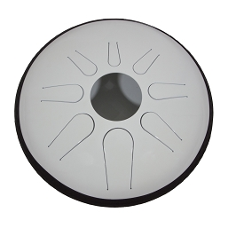 Idiopan Domina Electric Steel Tongue Drum 12 Inch Tunable Glow White + Mallets