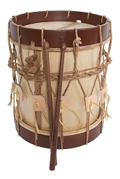 Early Music Shop Renaissance Drum 2 Head 10 x 11 Inch + Drum Sticks