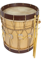 Early Music Shop Renaissance Drum 2 Head 13 x 13 Inch + Drum Sticks