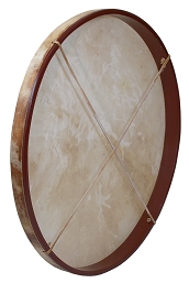 DOBANI Pretuned Goatskin Head Wood Frame Drum + Beater 30