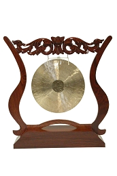 DOBANI Gong Stand Carved Sheesham for up to 14 Inch Gong
