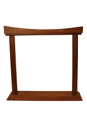 DOBANI Gong Stand Curved Sheesham for up to 14 Inch Gong