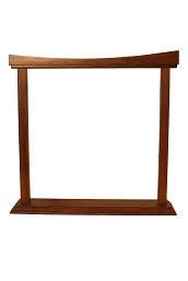DOBANI Curved Sheesham Gong Stand 18 Inch BLEMISHED