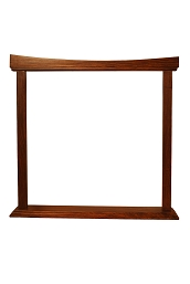 DOBANI Curved Sheesham Gong Stand 22 Inch BLEMISHED