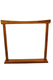 DOBANI Gong Stand Curved Sheesham for up to 26 Inch BLEMISHED
