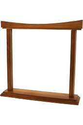 DOBANI Gong Stand Curved Walnut for up to 14 Inch Gong BLEMISHED