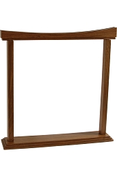 DOBANI 18 Inch Gong Stand Curved Walnut BLEMISHED