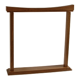 DOBANI Gong Stand Curved Walnut for up to 18 Inch Gong