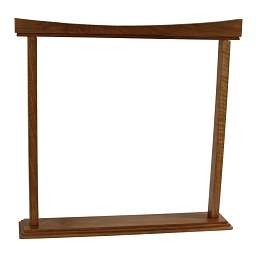 DOBANI Gong Stand Curved Walnut for up to 26 Inch Gong