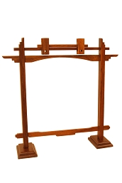 DOBANI Gong Stand Arched Sheesham for up to 10 Inch Gong