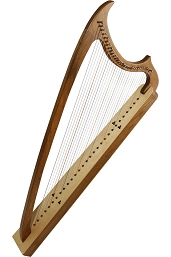 Early Music Shop 40 Inch Gothic Harp Walnut 29 String + Extra String Set + Tool