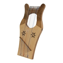 Mid-East Mini Kinnor King David's Harp 10 String Light Walnut + Extra String Set
