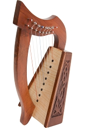 Roosebeck Lily Harp 8 String Knotwork + Tuning Tool BLEMISHED