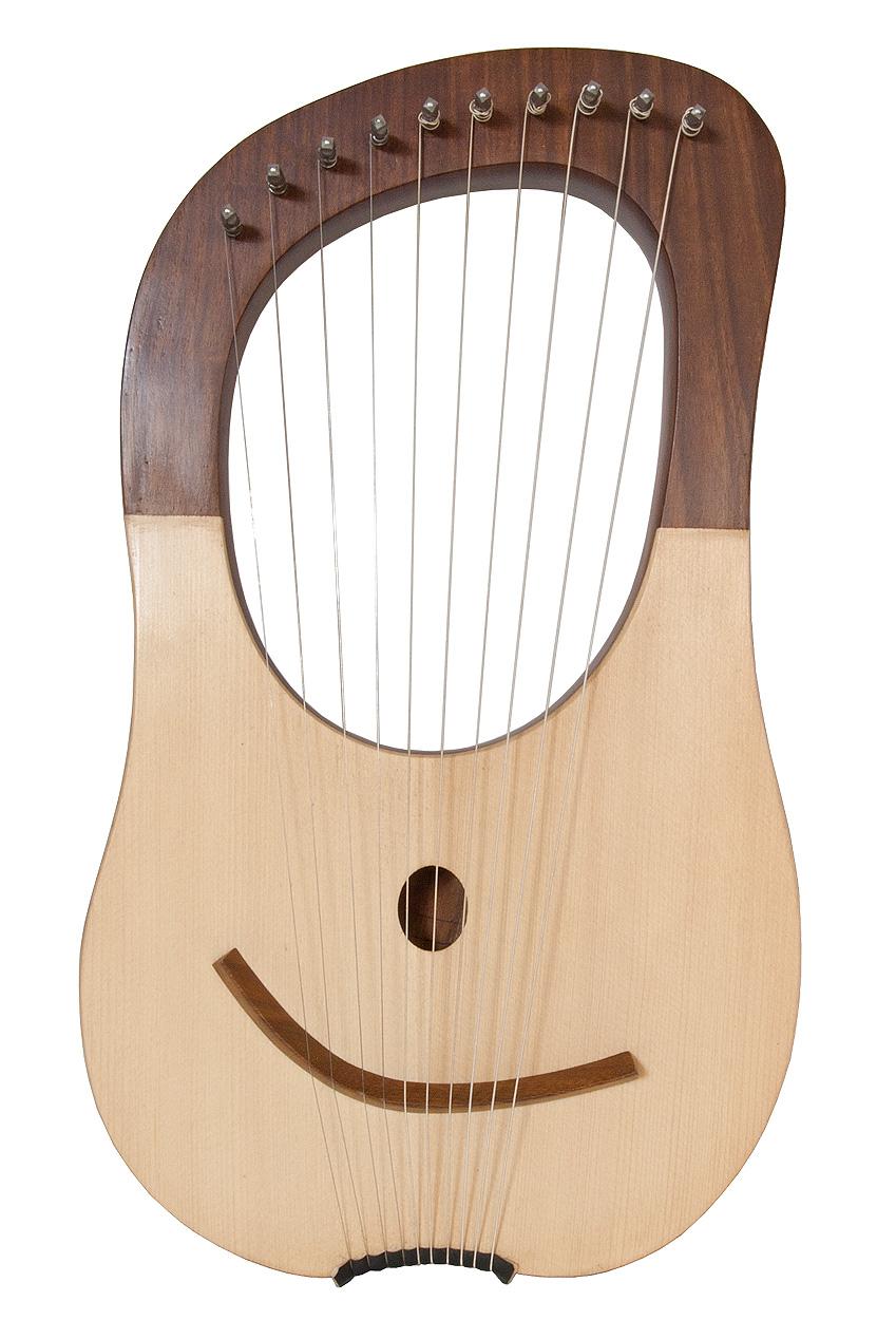Mid-East 16 Inch Lyre Harp 10 String + String Set + Case