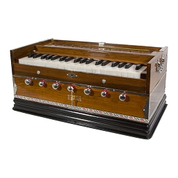 banjira Harmonium 39 Key 3 Drone 4 Stop Light + Padded Gig Bag A = 440 hz