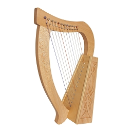Roosebeck Baby Harp 12 String Knotwork Lacewood + Extra String Set + Tuning Tool