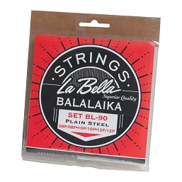 La Bella Balalaika Steel 6 String Set Loop End LBSBLLK