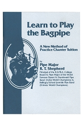 Learn to Play the Bagpipe Chanter Book RT Shepherd