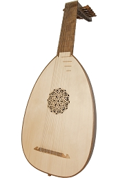 Roosebeck Deluxe 7 Course Lute Walnut