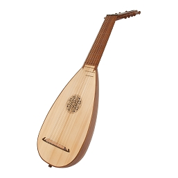 Roosebeck Travel Lute 7 Course 13 String Sheesham + Padded Gig Bag 32.5 Inch