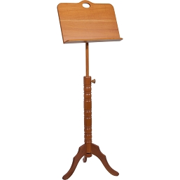 Roosebeck Music Stand Adjustable Red Cedar Single Tray Colonial Design BLEMISHED