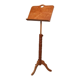 Roosebeck Music Stand Adjustable Red Cedar Single Tray Colonial Design