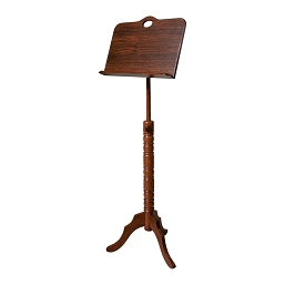 Roosebeck 66 Inch Music Stand 1 Tray Colonial Solid Wood