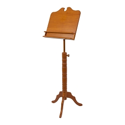 Roosebeck Music Stand Adjustable Solid Red Cedar Double Shelf