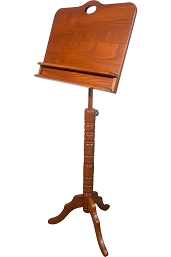 Roosebeck Colonial Music Stand Double Shelf Red Cedar Adjustable