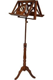 Early Music Shop Music Stand Adjustable 2 Tray Regency Style